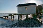 Lowry Digital Art Prints - Historic Boatshed Lowry Bay Print by Chris Warring