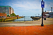 Boston Ma Prints - Historic Boston Boardwalk Print by Erica McLellan