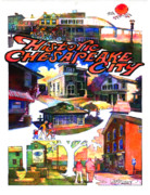 Historic Buildings Posters - Historic Chesapeake City Poster Poster by Dean Gleisberg