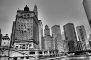 High Tower Framed Prints - Historic Downtown Chicago Framed Print by Drew Castelhano