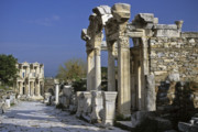 Turkey Metal Prints - Historic Ephesus Metal Print by Michele Burgess