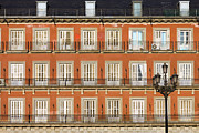 Residential Prints - Historic Facade at Plaza Mayor in Madrid Print by Artur Bogacki