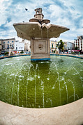 Historic Statue Photo Posters - Historic fountain Poster by Sabino Parente