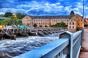Appleton Wisconsin Framed Prints - Historic Fox River Mills Framed Print by Shutter Happens Photography
