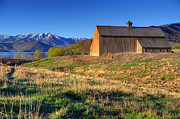 Francis Photo Framed Prints - Historic Francis Tate Barn - Wasatch Mountains Framed Print by Gary Whitton