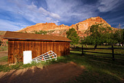 Old Barns Prints - Historic Fruita Barn Print by Adam Jewell