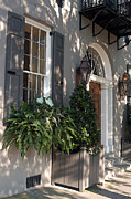 Streetscape Digital Art Acrylic Prints - Historic Home - Charleston Acrylic Print by Suzanne Gaff