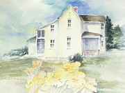 Historic Home Painting Prints - Historic Home Print by Bettye  Harwell