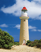 Kangaroo Island Framed Prints - Historic Lighthouse At Cape Du Couedic In Flinders Chase National Park, Kangaroo Island, South Australia Framed Print by Peter Walton Photography