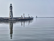 1833 Photos - Historic Lighthouse on Lake Erie by Phil Pantano