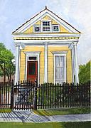 Brick Paintings - Historic Louisiana Cottage by Elaine Hodges