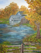 Mabry Paintings - Historic Mabry Mill by Shiana Canatella