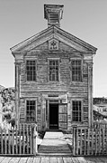 Old School House Photos - HISTORIC MASONIC LODGE 3777 in BANNACK MONTANA GHOST TOWN by Daniel Hagerman