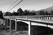 Niles District Prints - Historic Niles District in California Near Fremont . Bridge Into Niles District . 7D10596 . black an Print by Wingsdomain Art and Photography