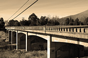 Small Towns Prints - Historic Niles District in California Near Fremont . Bridge Into Niles District . 7D10596 . sepia Print by Wingsdomain Art and Photography