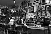 Small Towns Metal Prints - Historic Niles District in California Near Fremont . Bronco Billys Pizza Palace . 7D10707 . bw Metal Print by Wingsdomain Art and Photography