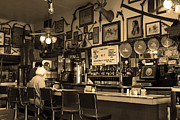Small Towns Metal Prints - Historic Niles District in California Near Fremont . Bronco Billys Pizza Palace . 7D10707 . sepia Metal Print by Wingsdomain Art and Photography