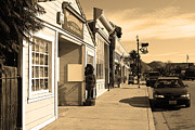 Sepia Photos Posters - Historic Niles District in California Near Fremont . Devils Workshop and Mercantile . 7D10663 .sepia Poster by Wingsdomain Art and Photography
