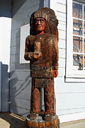 Devils Workshop And Mercantile Prints - Historic Niles District in California Near Fremont . Indian Statue at The Devils Workshop and Mercan Print by Wingsdomain Art and Photography