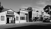 Italian Restaurant Framed Prints - Historic Niles District in California Near Fremont . Main Street . Niles Boulevard . 7D10676  . bw Framed Print by Wingsdomain Art and Photography