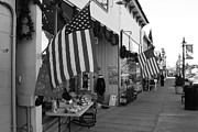 Main Street Prints - Historic Niles District in California Near Fremont . Main Street . Niles Boulevard . 7D10692 . bw Print by Wingsdomain Art and Photography