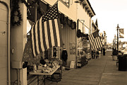 Main Street Prints - Historic Niles District in California Near Fremont . Main Street . Niles Boulevard . 7D10692 . sepia Print by Wingsdomain Art and Photography