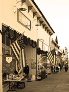 Small Towns Metal Prints - Historic Niles District in California Near Fremont . Main Street . Niles Boulevard . 7D10693 . sepia Metal Print by Wingsdomain Art and Photography