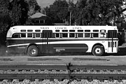 Red Photographs Framed Prints - Historic Niles District in California Near Fremont . Niles Coach Line Bus . 7D10803 . bw Framed Print by Wingsdomain Art and Photography