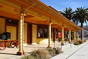 Niles Depot Museum Prints - Historic Niles District in California Near Fremont . Niles Depot Museum and Niles Town Plaza.7D10636 Print by Wingsdomain Art and Photography