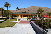 Niles Prints - Historic Niles District in California Near Fremont . Niles Depot Museum and Niles Town Plaza.7D10697 Print by Wingsdomain Art and Photography