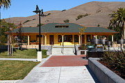 Niles Depot Museum Prints - Historic Niles District in California Near Fremont . Niles Depot Museum and Niles Town Plaza.7D10698 Print by Wingsdomain Art and Photography