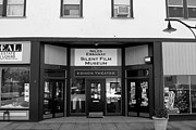 Small Towns Prints - Historic Niles District in California Near Fremont . Niles Essanay Silent Film Museum . 7D10683 bw Print by Wingsdomain Art and Photography