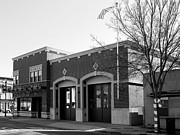 Small Towns Metal Prints - Historic Niles District in California Near Fremont . Niles Fire Station Number 2 . 7D10732 . bw Metal Print by Wingsdomain Art and Photography