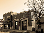 Small Towns Metal Prints - Historic Niles District in California Near Fremont . Niles Fire Station Number 2 . 7D10732 . sepia Metal Print by Wingsdomain Art and Photography
