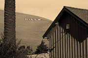 Small Towns Metal Prints - Historic Niles District in California Near Fremont . Niles Letters From Niles Town Plaza . sepia Metal Print by Wingsdomain Art and Photography