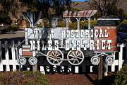 Small Towns Metal Prints - Historic Niles District in California Near Fremont . Visit Historical Niles District Sign . 7D10653 Metal Print by Wingsdomain Art and Photography