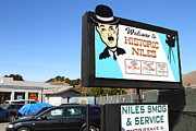 Niles Canyon Railway Photos - Historic Niles District in California Near Fremont . Welcome To Niles Sign . 7D10603 by Wingsdomain Art and Photography
