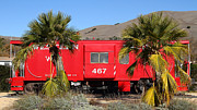 Niles Canyon Railway Prints - Historic Niles District in California Near Fremont . Western Pacific Caboose Train . 7D10614 Print by Wingsdomain Art and Photography