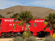 Old Cabooses Framed Prints - Historic Niles District in California Near Fremont . Western Pacific Caboose Train . 7D10718 Framed Print by Wingsdomain Art and Photography
