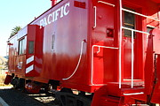 Old Cabooses Photos - Historic Niles District in California Near Fremont . Western Pacific Caboose Train . 7D10720 by Wingsdomain Art and Photography