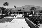 Small Towns Metal Prints - Historic Niles District in California Near Fremont.Niles Depot Museum and Town Plaza.7D10697.bw Metal Print by Wingsdomain Art and Photography