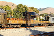 Old Cabooses Photos - Historic Niles Trains in California . Old Niles Canyon Train . 7D10840 by Wingsdomain Art and Photography