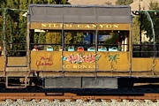 Niles Town Plaza Framed Prints - Historic Niles Trains in California . Old Niles Canyon Train . 7D10844 Framed Print by Wingsdomain Art and Photography