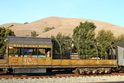 Old Cabooses Photos - Historic Niles Trains in California . Old Niles Canyon Train . 7D10845 by Wingsdomain Art and Photography