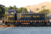 Old Caboose Prints - Historic Niles Trains in California . Old Southern Pacific Locomotive . 7D10867 Print by Wingsdomain Art and Photography
