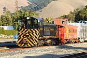 Old Caboose Photo Metal Prints - Historic Niles Trains in California . Old Southern Pacific Locomotive and Sante Fe Caboose . 7D10821 Metal Print by Wingsdomain Art and Photography