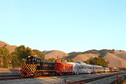 Small Towns Prints - Historic Niles Trains in California . Old Southern Pacific Locomotive and Sante Fe Caboose . 7D10869 Print by Wingsdomain Art and Photography