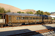 Old Caboose Prints - Historic Niles Trains in California . Old Western Pacific Passenger Train . 7D10836 Print by Wingsdomain Art and Photography