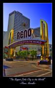 Reno Posters - Historic Reno Sign Poster by Ricky Barnard