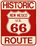 Highway Signs Framed Prints - Historic Route 66 New Mexico Framed Print by Wingsdomain Art and Photography